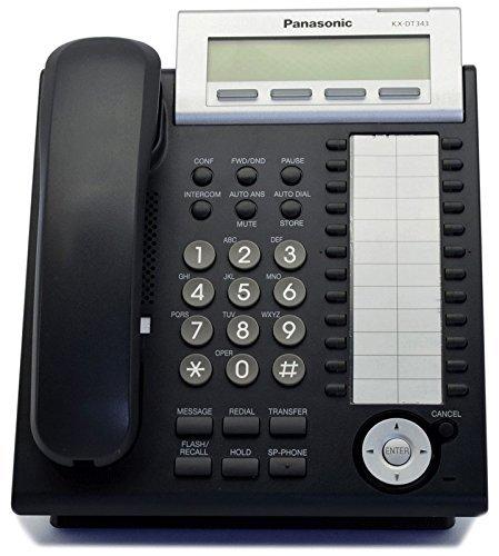 Panasonic KX-DT343-B Black Digital Display Phone (Renewed) (Renewed)