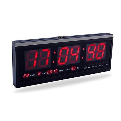 Yosoo Reloj Digital Grande LED con el Calendario la Fecha y la Temperatura Indicación Reloj de