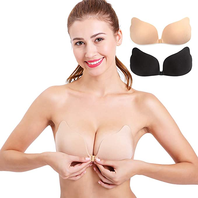 Invisible Bra 1//2 Cup Push Up Soft Female Lady Dress Wedding Party Invisible Br