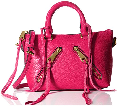 Rebecca Minkoff Micro Moto Satchel Cross Body Bag Bright Fuchsia One Size