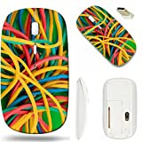 MSD Wireless Mouse White Base Travel 2.4G Wireless Mice with USB Receiver, Noiseless and Silent Click with 1000 DPI for notebook, pc, laptop, computer, mac book design 30589540 Colorful rubber bands o