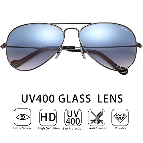 O-Let Large Aviator Sunglasses Women Men Oversized Aviators with UV400 Glass - Online Aviator