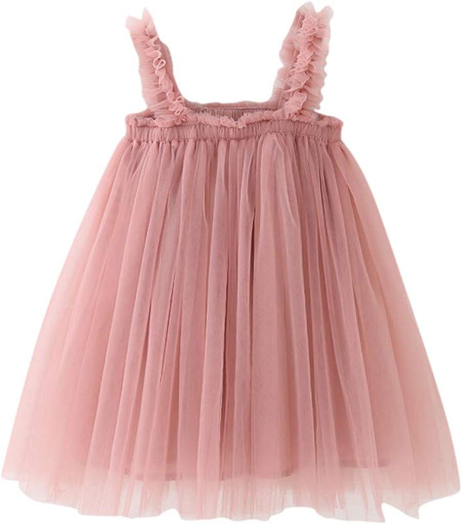 ZODOF Niñas Vestidos de tutú Gasa Vestidos Tul Malla de Encaje para Boda Fiesta Falda de Flores para bebés niñas