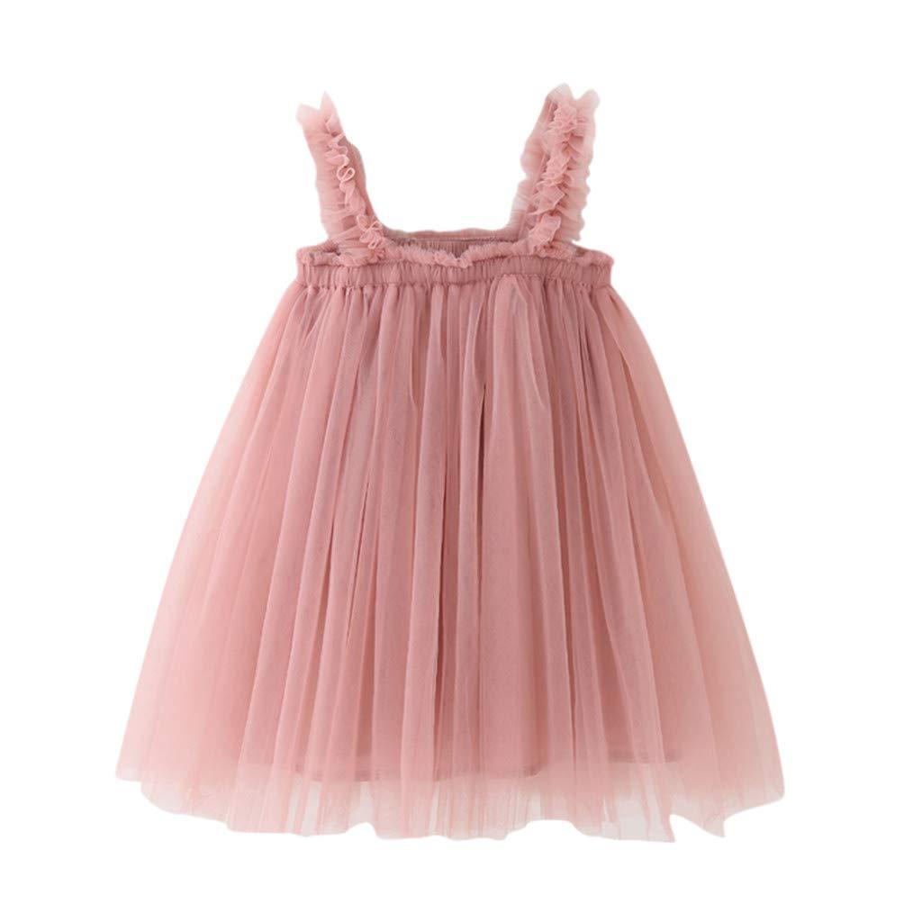 Buy Toddler Girls Princess Strap Tulle Dresses Baby Kids