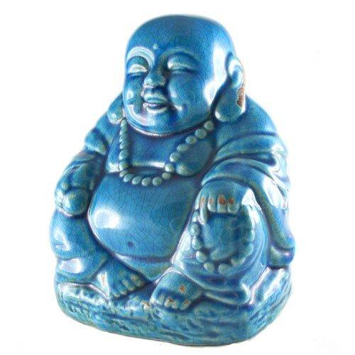 - World Buyers Happy Buddha Ceramic with Crackle Finish 7.5