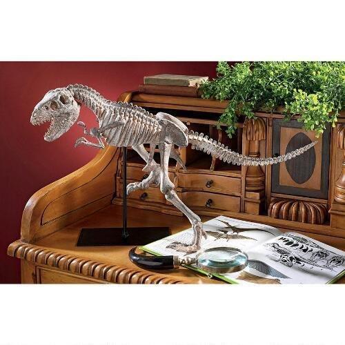 Scaled T-Rex Skeleton Statue On Stand Design Trex T-Rex Dino -