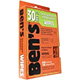 Search : Ben's 30 Deet Mosquito Tick Insect & Bug Repellent Field Wipes - 24 Pack