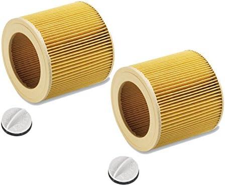 Filtro de cartucho para Kärcher WD2.200 WD3.500 P WD 3.200, WD 3.300 M, WD 3.500 P como 6.414-552.0 (2 piezas): Amazon.es: Bricolaje y herramientas