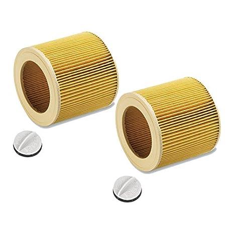 Filtro de cartucho para Kärcher WD2.200 WD3.500 P WD 3.200, WD 3.300 M, WD 3.500 P como 6.414-552.0 (2 piezas)