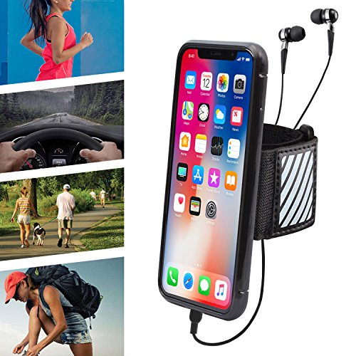 WANPOOL Sport Armband for iPhone X - Open-Face Armband/Wristband Holder, Includes Standard Strap To Fit 11