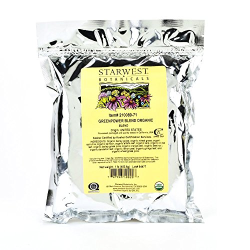 Starwest Botanicals Organic GreenPower Blend, 1 Pound ()