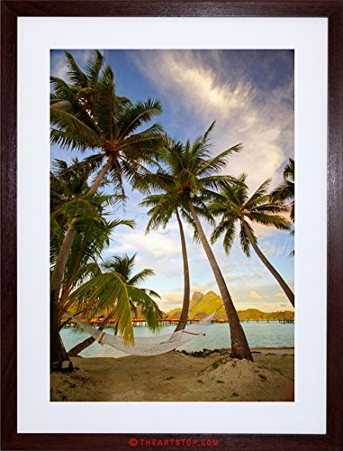 - The Art Stop Photo Beach Landscape Bora Tropical Palm Tree Framed Print F12X2774