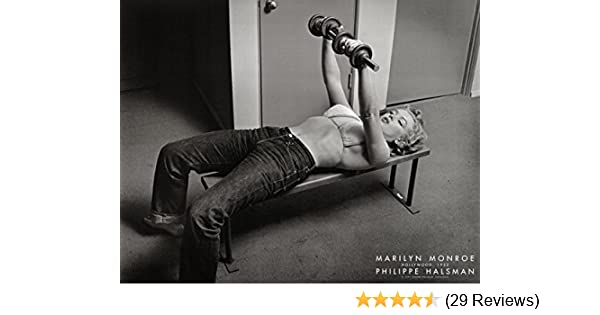 Amazon.com: Marilyn Monroe, Hollywood 1952 Art Poster Print by Philippe Halsman Working Out With Weights, 22x28: Marilyn Monroe Bench Press Poster: Posters ...