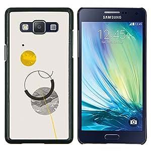 """Be-Star Único Patrón Plástico Duro Fundas Cover Cubre Hard Case Cover Para Samsung Galaxy A5 / SM-A500 ( Sol Planetas Luna Cielo minimalista"""" )"""