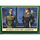 Star Wars Rogue One Mission Briefing Green Base Card #9 Anakin and the Admiral