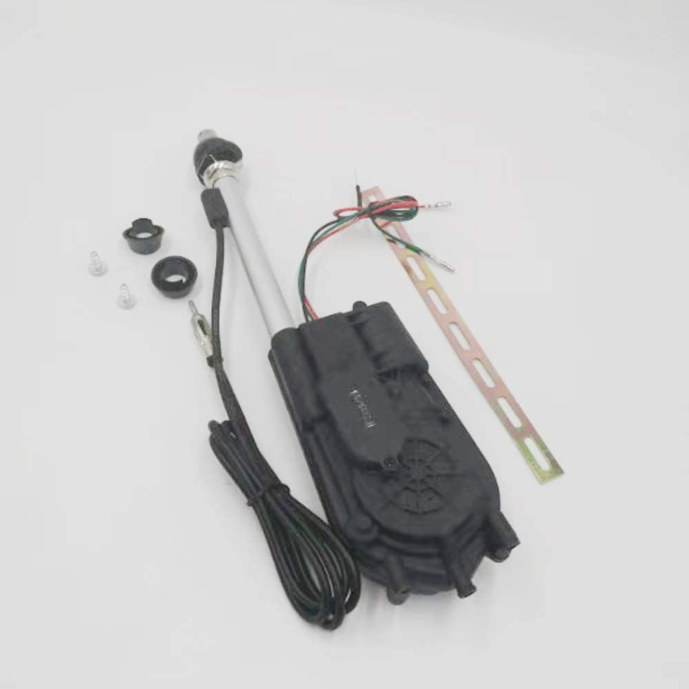 COMPACT POWER ELECTRIC AERIAL //STAINLESS STEEL WING MOUNT CAR RADIO AERIAL