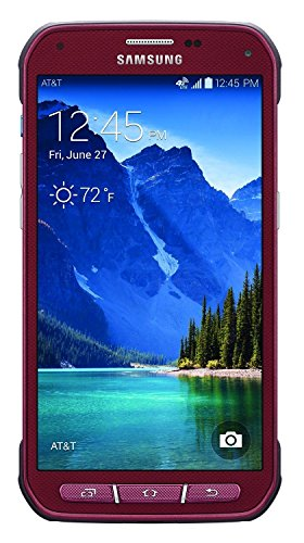 Samsung Galaxy S5 Active 4G LTE G870A 16GB Factory Unlocked Extremely Durable Rugged Smartphone, Ruby Red (Renewed)