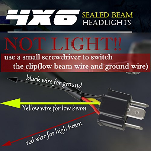 TURBOSII DOT Approved 4X6 LED Headlight emblies Hi/Lo ... on