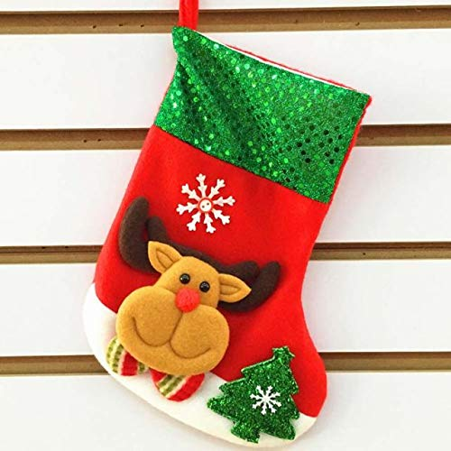 Christmas Socks For Toddlers,Christmas Socks Toys,Christmas Socks Adult Humor,Christmas Socks For Women Knee High,Socks Santa Claus Candy Gift Bag Xmas Hanging Decor,C,Free Size