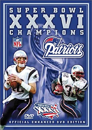 90c4202a67c Image Unavailable. Image not available for. Color  Super Bowl XXXVI - New  England Patriots Championship Video