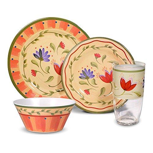 Pfaltzgraff Napoli Melamine Dinnerware Set, 16 Piece