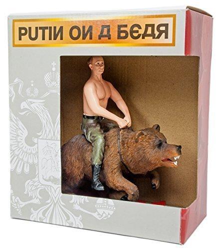 MeeToy Putin Riding On a Bear Action (Horseback Statue Figure)