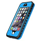 iPhone 5S Waterproof Case, Vcloo® iPhone 5 Waterproof Case, Dust Proof, Snow Proof, Shock Proof Case, Heavy Duty Protective Carrying Cover Case for iPhone 5S, iPhone 5 with Touched Screen Protector (Blue)