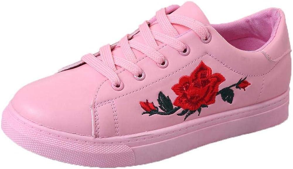 Yesmile Zapatos de mujer❤️Moda de Las Mujeres Correas Deportivas Running Zapatillas Zapatos de Flores de Bordado Casual Planos Loafers, Adecuado para Todas Las Estaciones