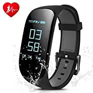 Fitness Tracker, CAMTOA Z17 Activity Wristbands with Heart Rate Monitor: IP67 0.96''OLED Sports Bracelet Sleep Monitoring / GPS Track/ Camera Control/ Screen Brightness Adjustment for Android and IOS