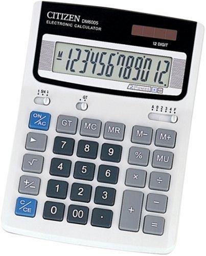 [해외]시티즌 데스크탑 계산기 (12 자리 표시) DM6005Q / Citizen Desktop Calculator (12-digit display) DM6005Q