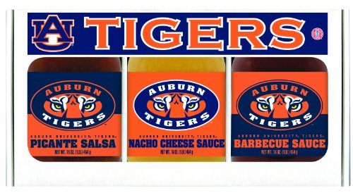 Tigers Ncaa Barbecue Sauce (Auburn Tigers NCAA Triple Play Gift Set (16oz BBQ Sauce, 16oz Picante Salsa, 16oz Cheeze Dip))
