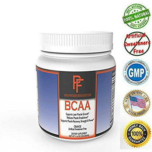 Physique Formula BCAA Powder-Artificial Sweetener Free Branched Chain Amino Acids Powder Orange Flavor