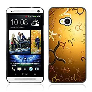Graphic4You Zodiac Horoscope Signs Vector Design Hard Case Cover for HTC One (M7)