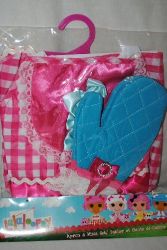 [Lalaloopsy Child's Suzette La Sweet Costume Apron & Mitt Set] (Lalaloopsy Costumes For Girls)