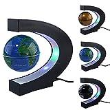 "3"" Floating Rotating Globe World Map HongyuAmy Colorful LED Lights Table Lamp in C-shape Base Learning Map for Home Office Desk Decoration (Blue)"