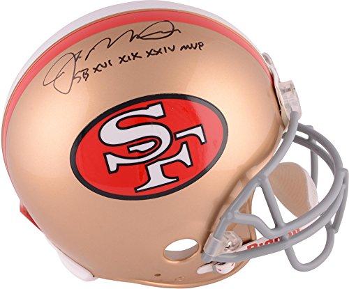 Joe Montana San Francisco 49ers Autographed Throwback Pro Line Helmet with