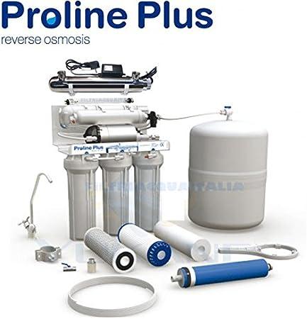Filtri Acqua Italia - Purificador de agua de 5 etapas de filtración, con sistema de ósmosis inversa y esterilizador UV.: Amazon.es: Hogar