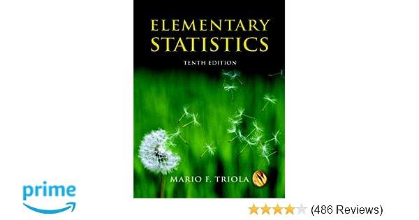 Amazoncom Elementary Statistics 10th Edition Mystatlab Series