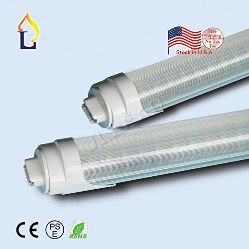 ( 25パック) 6 ft t8 30 W smd2835 1800 mm LEDライト電球ランプr17d Economiceエネルギーのための120度保存デスクライトウォールライトホワイト B075892FBJ