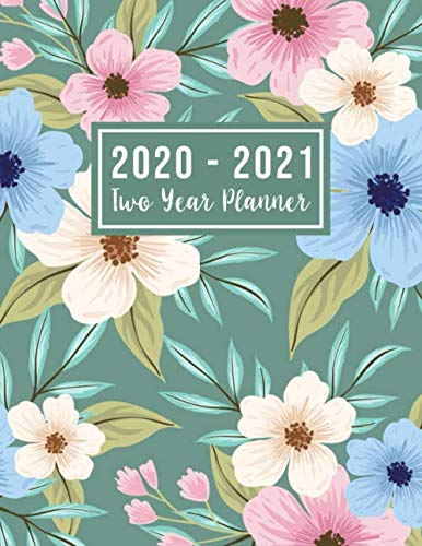 2020-2021 Two Year Planner: 2020-2021 see it bigger planner | Flower Watercolor Cover | 2 Year Calendar 2020-2021 Monthly | 24 Months Agenda Planner ... Dec 2021 ) (2 year monthly planner 2020-2021)