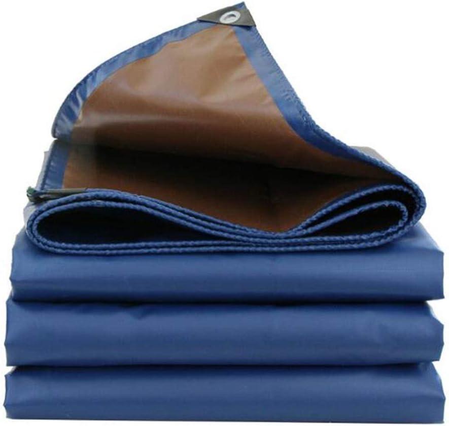 DALL ターポリン 防雨 厚さ0.45mm ヘビーデューティ 両面防水 日焼け止め 耐摩耗性 複数のサイズ (Color : 青, Size : 4×4m) 青 4×4m