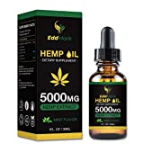 Hemp Oil Dietary Supplement for Pain Relief and Anxiety - 5000mg Hemp Oil Extract with Mint Flavor - 30Ml All-Natural Organic Hemp Drops - Can Improve Sleep, Skin - Anti-Inflammatory Properties