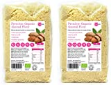 Organic Ground Almonds 2kg (1kg x 2) Almond Flour Low Carb Blanched Meal for Gluten Free Baking Vegetarian and Vegan - PINK SUN Bulk Buy