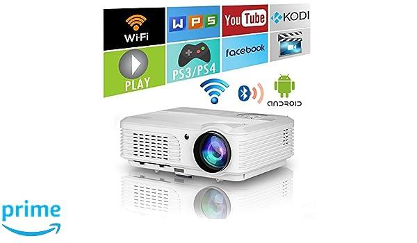 LED WiFi Proyector Bluetooth Teatro en casa HD 1080P Soporte ...