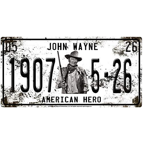 Midsouth Products John Wayne License Plate John Wayne 1907