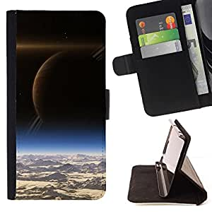 DEVIL CASE - FOR Sony Xperia Z1 L39 - Space Planet Galaxy Stars 12 - Style PU Leather Case Wallet Flip Stand Flap Closure Cover