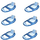 Kelsyus Floating Pool Lounger Inflatable Chair w/Cup Holder, Blue (6 Pack)