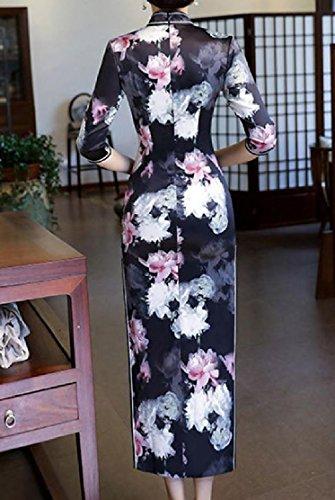 Pattern8 Dress Oversized Printed Chinese Cheongsam Evening Womens Cut Comfy Out qTw6OTg