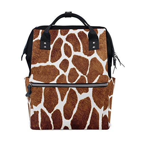 WOZO Giraffe Spot Multi-function Diaper Bags Backpack Travel - Laptop Print Giraffe Bag