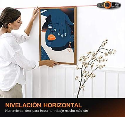 Nivel Láser, TACKLIFE MI01 Marcador de Láser de 9 M, Gran Angular 360 °, Adsorción de la Bomba de Vacío, Nivel de Dos Burbujas, Precisión 2 mm/m, con Caja de Polvo: Amazon.es: